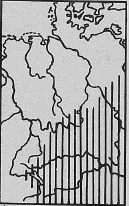 Verbreitung Gartenspitzmaus - DJN (1994) - Peter Boye - Heimische Säugetiere