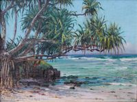 'Lauhala by the Shore' by D. Howard Hitchcock, 1921.JPG