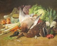 'Still Life with Ducks and Vegetables' by Thomas Hill.jpg