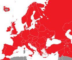 Verbreitung der Bachstelze in Europa - Alice Chodura (CC-BY-SA-3.0)