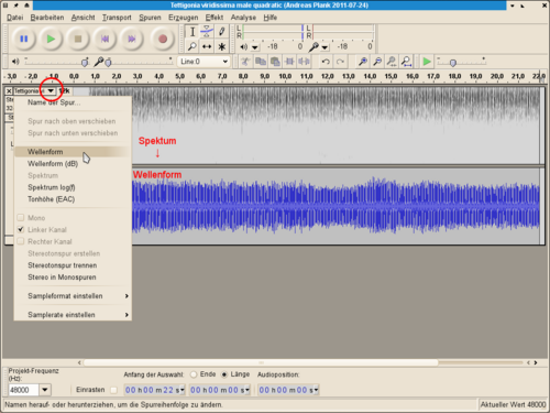 Bildschirmfoto Audacity Klangprofil von Spektrum nach Wellenform.png