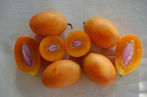 Bouea macrophylla cut fruit Paris Chinese supermarket.JPG