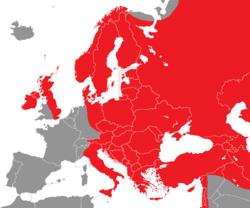 Verbreitung der Nebelkrähe in Europa - Alice Chodura (CC-BY-SA-3.0)
