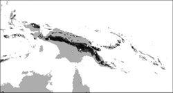 Map 5. Distribution of Oleandra vulpina (triangles), Oleandra werneri (circles).