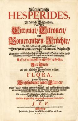 Titre Nürnbergische Hesperides Volkamer 1708.png