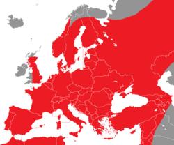 Verbreitung des Wendehalses in Europa - Alice Chodura (CC-BY-SA-3.0)