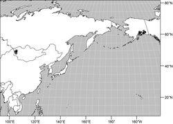 Figures 40. Distribution map of Gymnoclasiopa matanuska Mathis and Zatwarnicki sp. n.