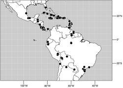 Figure 95. Distribution of Hydrochasma incisum (Coquillett).